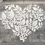 Heart Of Leaves Metal Wall Art