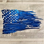 Battle Worn American Flag Metal Wall Art