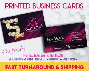 Paparazzi business cards printed etsy bling bling printed paparazzi business cards paparazzi jewelry paparazzi digital file availablefree shipping paparazzi consultantcards colourmoves