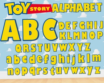 Toy Story Alphabet Cliparts | Toy Story Letters SVG  | Toy Story Letters | Toy Story Numbers | Toy Story Clip Arts | Toy Story Birthday SVG