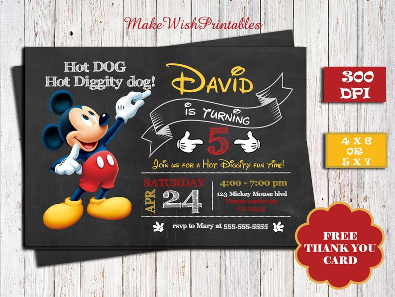 image about Mickey Mouse Printable Birthday Invitations referred to as Mickey Mouse printable birthday invitation, Cost-free Thank by yourself card,Disney Mickey birthday invitation,Mickey Mouse clubhouse invitations,arty invite