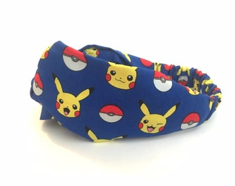 Headband pokemon evolutions,headband wonder woman,headband batman,headband mario bross,yoshi,headband handmade harry Potter,turban twisted