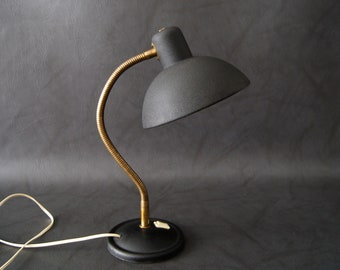 Desk Lamp 50 years black with shrink varnish, French table lamp mid century