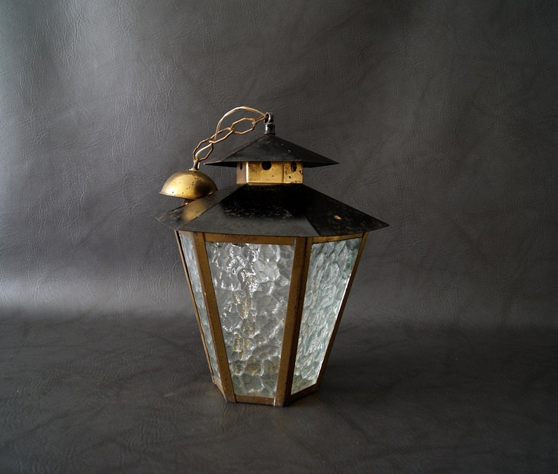 hallway lamp Hanging lamp mid century metal pendant light lantern lamp