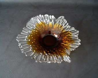 Glass Bowl Humppila Finland glass bowl Sunburst Glass Tauno Wirkkala