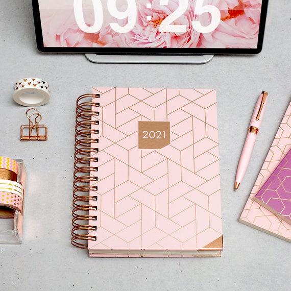 Rosa A5 Planner Matilda Myres 2021 Agenda settimanale