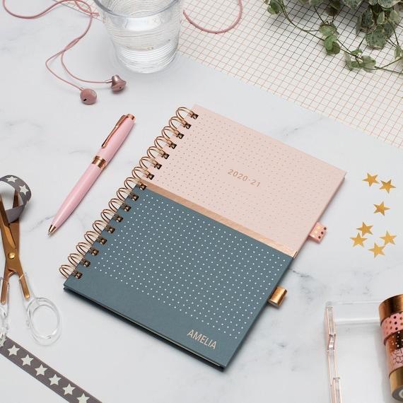 Matilda Moo 2019/ colore /20/Flex cover A5/Weekly settimanale luglio a luglio A5 Blue Diary