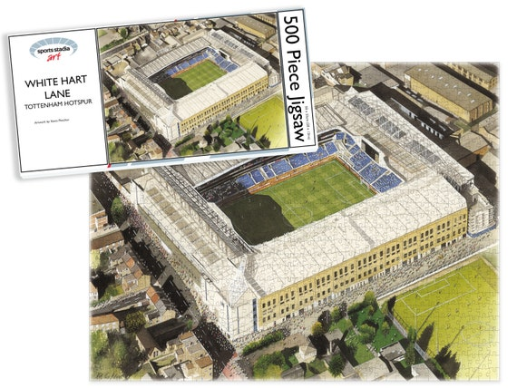 Tottenham Hotspur Football Club White Hart Lane Stadium Fine Art 500pc Jigsaw Puzzle