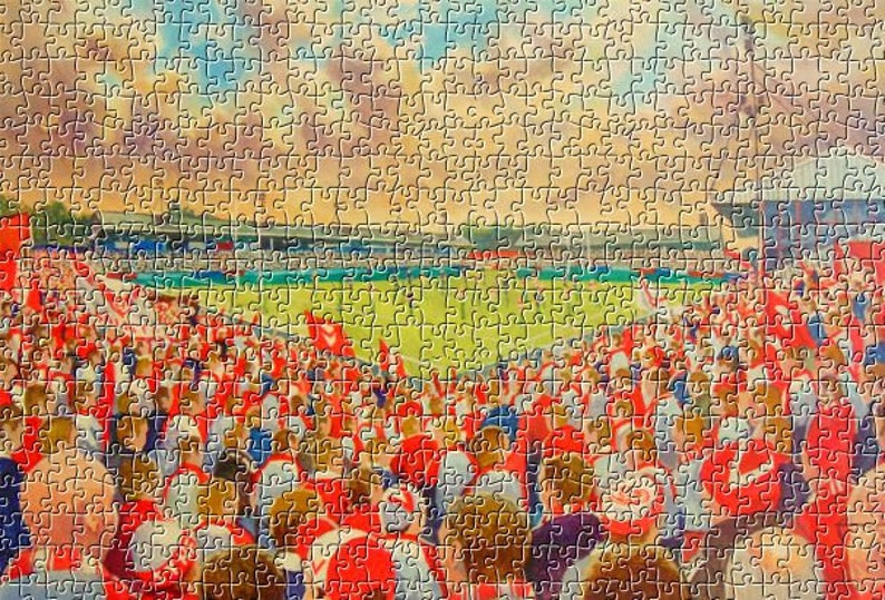 St Helens Rugby League Club Knowsley Road Stadium Fine Art 500pc Jigsaw Puzzle