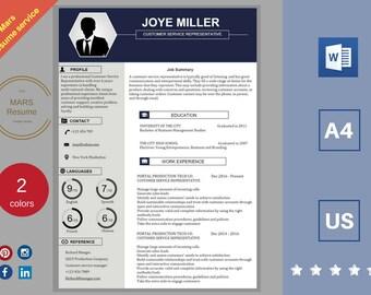 Professional RESUME template/ CV template/ Resume templates Design/ +cover letter/CV templates Creative resume