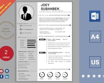 Professional Resume templates/ Modern CV / Cover letter/ creative resume