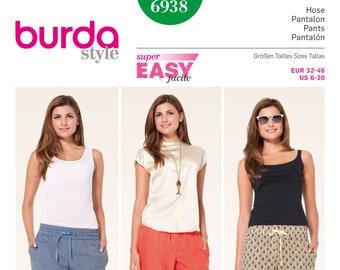 New BURDA Style 6912 Ladies Tops /& Dress Sewing Pattern EUR 34-46