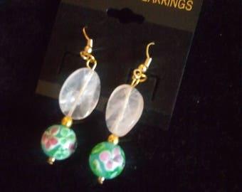Handmade Floral Design Earrings