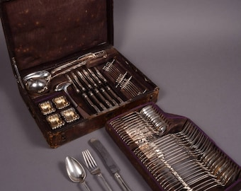 Silver Flatware Set for 12