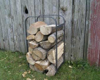 CUBE Firewood rack Log holder Forged steel Fireplace tools Hearth accessories Wood storage Fire tool Minimalist Design Modern Furniture