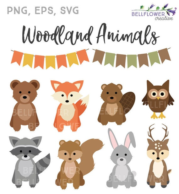 Woodland Animals Clipart Woodland Animals SVG Woodland ...