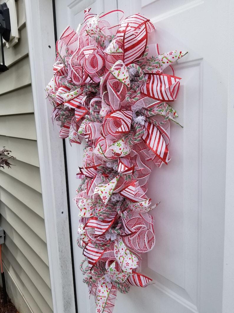 Candy Cane Wreath, Candy Cane Christmas Wreath