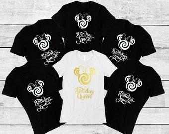 Birthday Squad Shirts Queen ShirtBirthday Party 21st Shirt 30th Shirt40th Disney