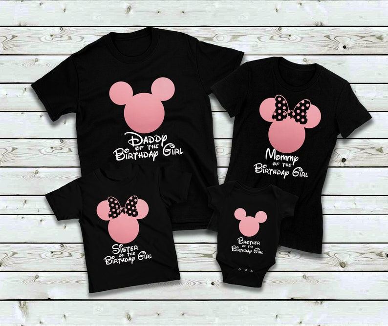 d29335e17 Mickey Minnie Mouse birthday shirtDisney family birthday | Etsy