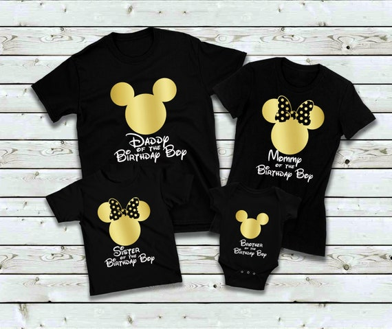 Mickey Mouse Birthday Boy Shirt Party