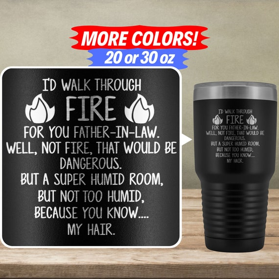 Funny Father In Law Gifts For Father In Law Tumbler Travel Mug Cup Father In Law Gift Idea Birthday Present Best Father In Law Ever M 32s