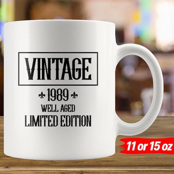 30th Birthday Gift 1989 Present Idea For Men Women Ladies Dad Party Happy 30 Mug