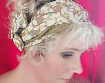 Fabric green foliage double wire headband