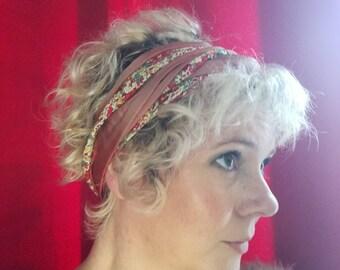 Liberty pink double wire headband