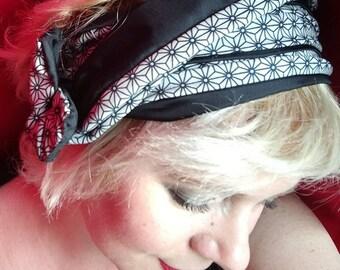 Graphic fabric double B wire & headband