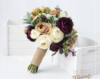Centerpiece silk flower centerpiecewedding etsy bridal bouquet silk bouquet wedding flowers wedding bouquet summer wedding fall wedding rustic wedding silk roses silk peonies junglespirit Images