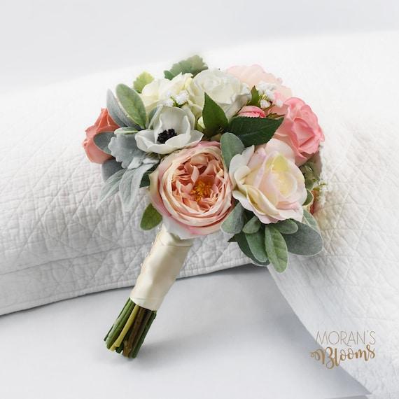 Brautstrauss Seide Hochzeitsblumen Pfingstrosen Rosen Etsy
