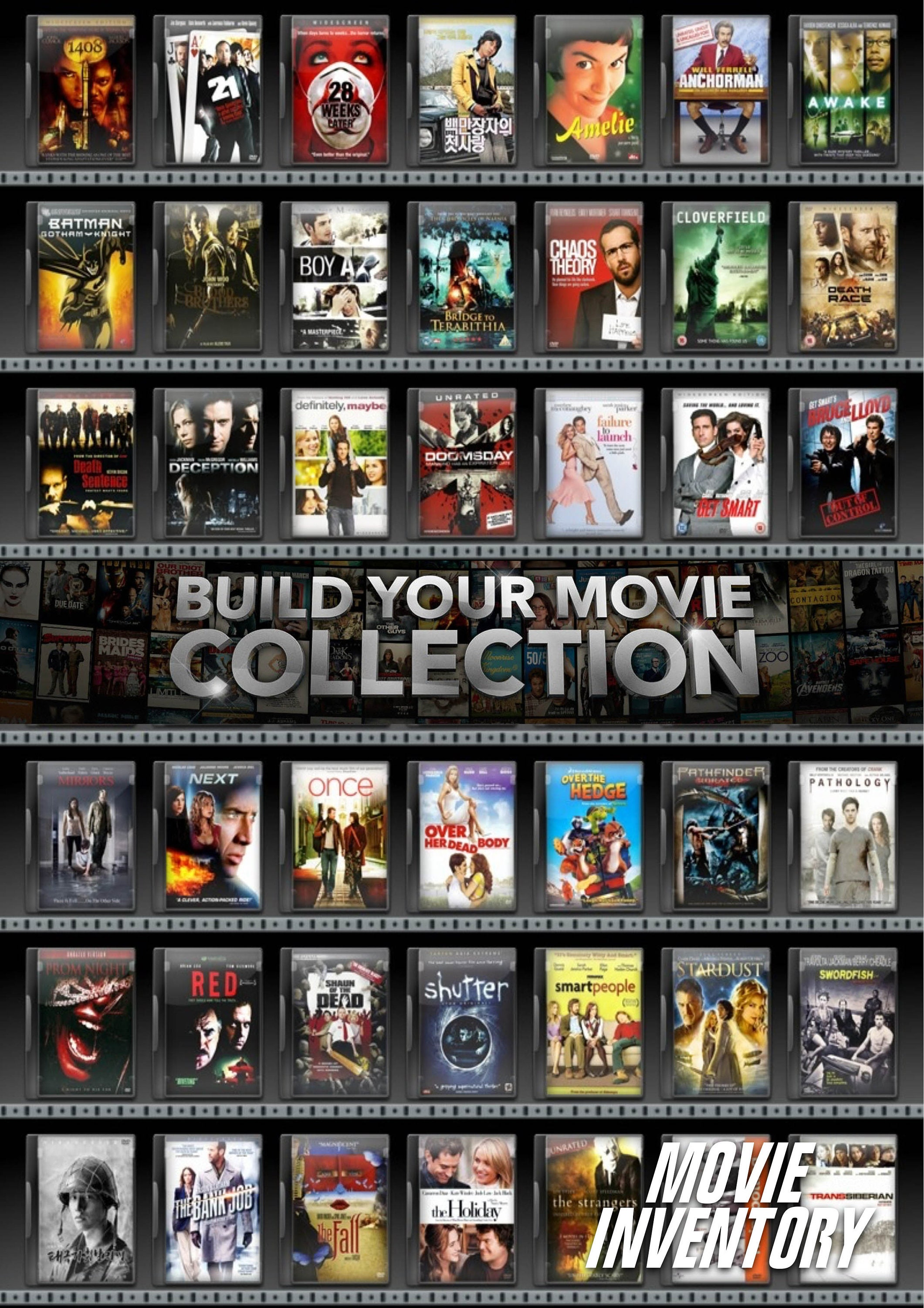 Build your movie collection  List your films A-Z  DVD | Etsy