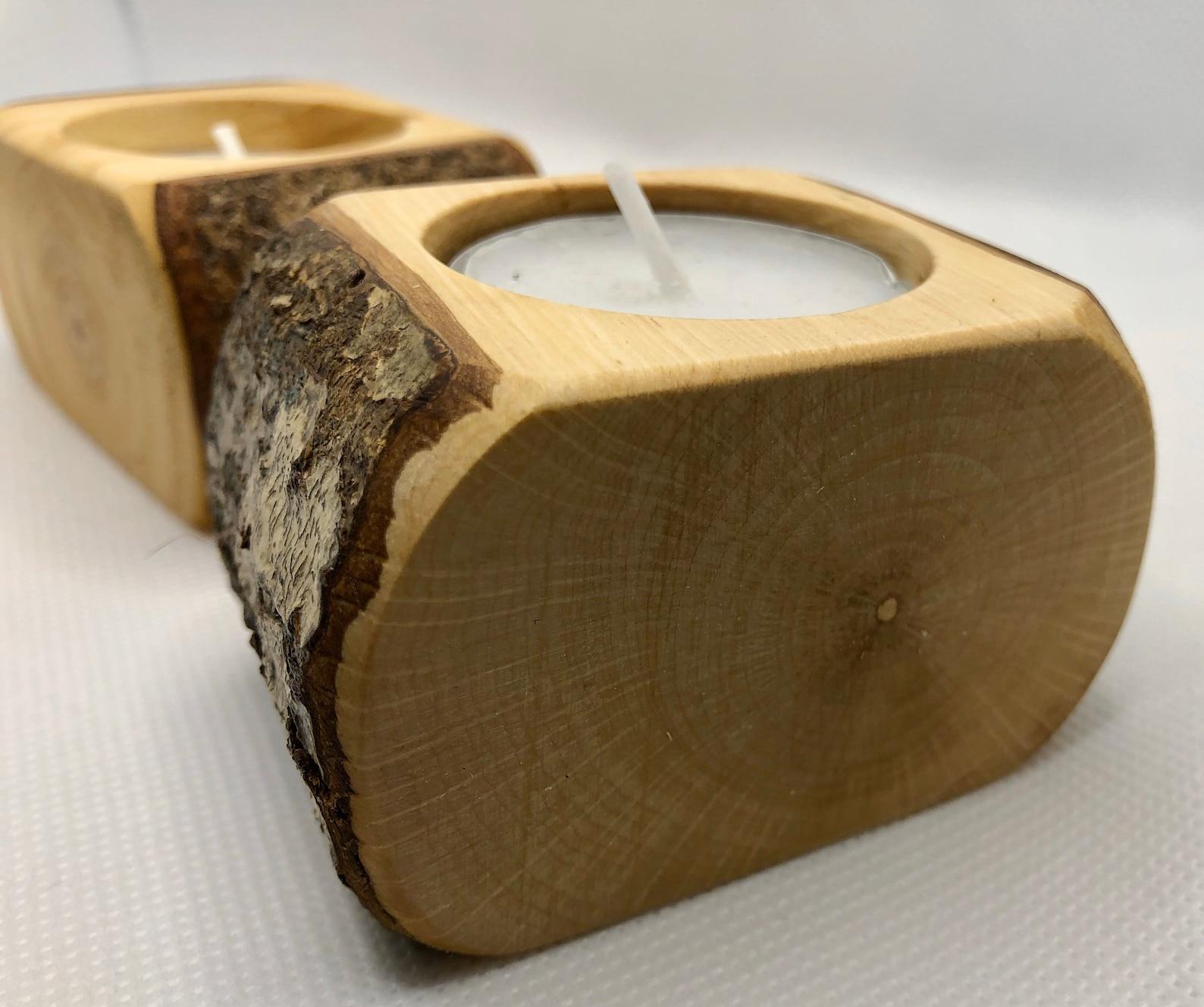 Dartmoor wood stunning single tealight holder