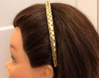 Braided Headband with Comb