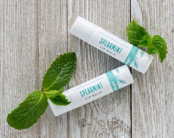 Organic Spearmint Lip Balm