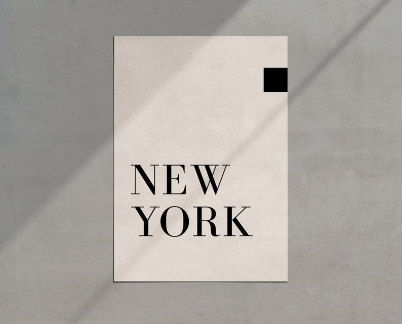 JPG New York Printable Printable Artwork New York Typography Print New York City Print New York Text Print Minimalist Wall Decor