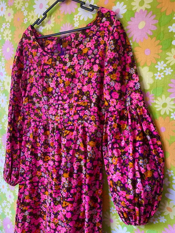 Groovy Flower Power 60's Mini Dress