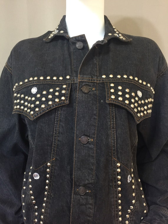 1990s American Rag denim skirt and jacket set, siz
