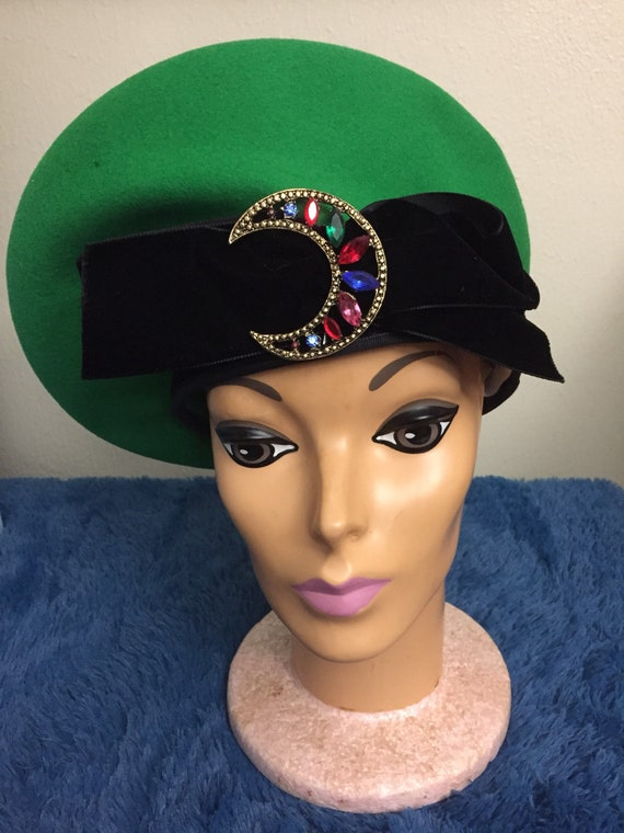 Vintage 1970s eric javits french beret for woman.… - image 1