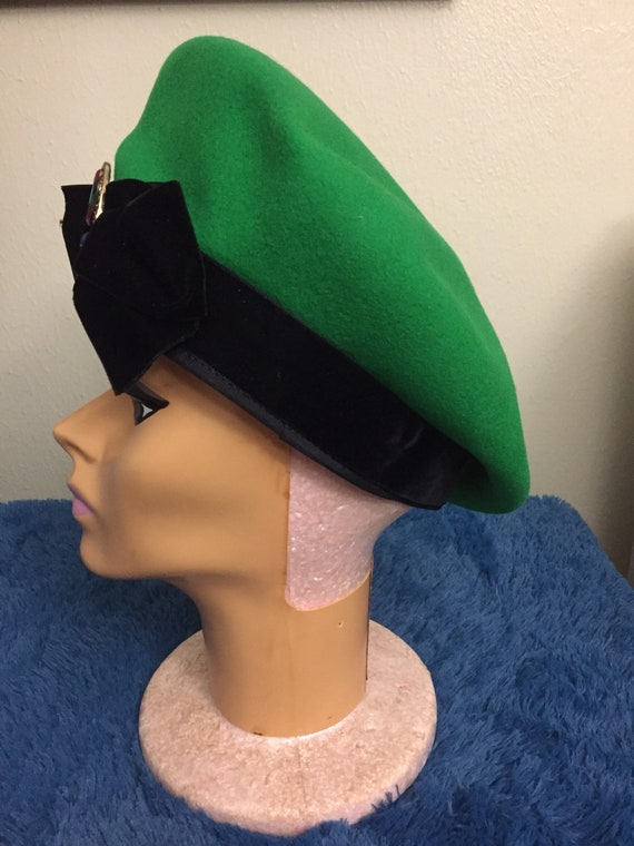 Vintage 1970s eric javits french beret for woman.… - image 4