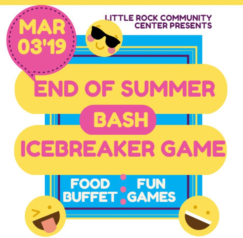 End Of Summer! Customized Icebreaker Game