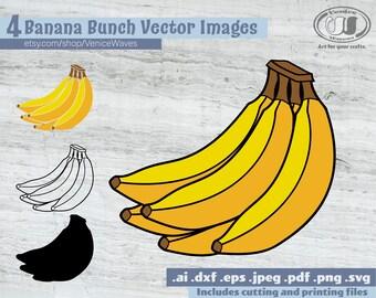 Banana Svg Etsy