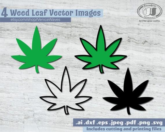 Weed Leaf Svg Weed Leaf Cut File Weed Leaf Clipart Weed Etsy