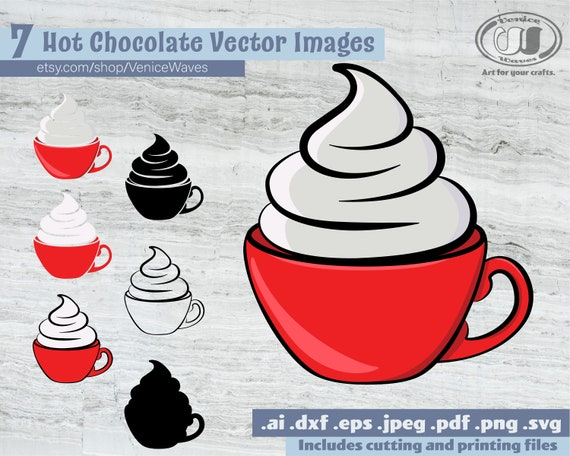 Hot Cocoa Svg Hot Cocoa Cut File Hot Chocolate Clipart Hot Etsy