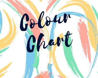 Colour Chart Wool Felt Sheets Merino DIY Flower