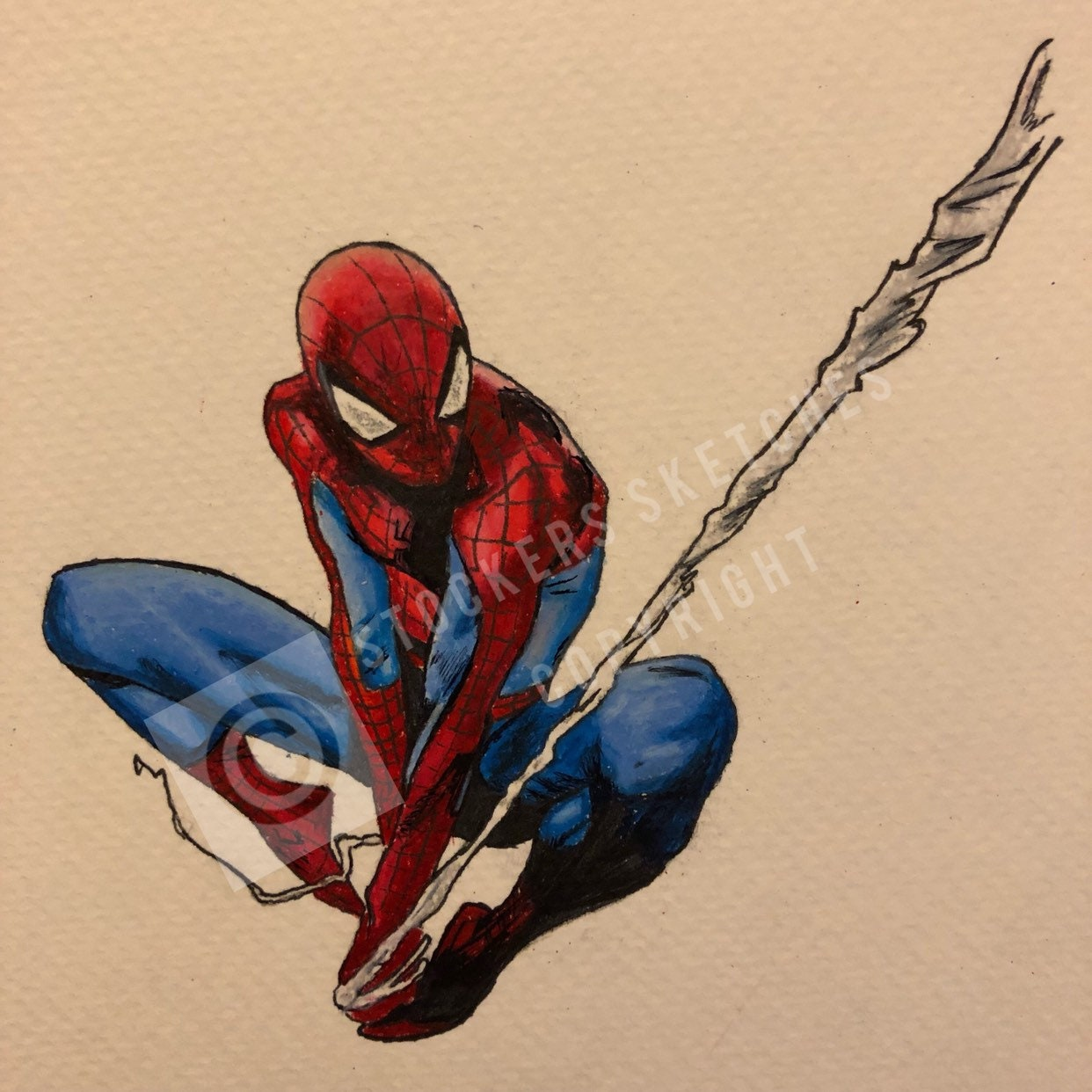 The amazing spider man drawing print