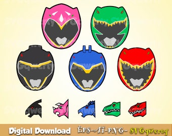 Power Ranger Svg Clipart Party Birthday Printable PNG 300 Dpi
