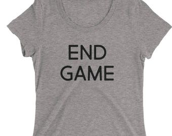 End Game Lets Men Know You Are That Girl Ladies' short sleeve t-shirt - engagement or engaged gift
