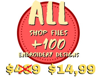 +100 Files Pattern Frames Embroidery Designs Machine All Formats Instantly Download Entire Shop Files Mega Pack All Shop Files Bundle
