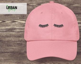 Eyelashes Embroidered Dad Hat   Trendy Dad Hats   Adjustable Tumblr Dad Hat    Vintage Baseball Dad Cap   Cute Dad Hat b921386ee7a4